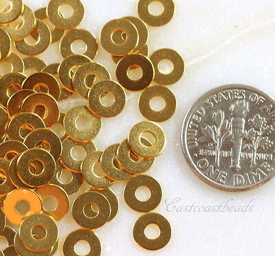 TierraCast Micro Washers, Embellishments, Gold Plated, 6.35mm., 100 Piece, 7025