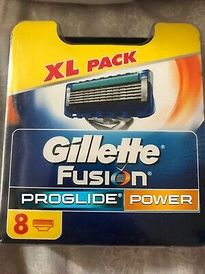 Gillette Fusion Proglide Power Power Razor Blades XL - 8 Pack   *Brand  New*