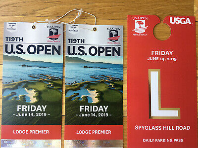2019 US Open Golf Pebble Beach - 2 FRIDAY Lodge Premier Tickets - VIP Parking