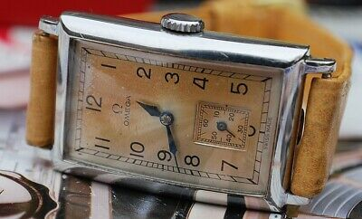 OMEGA CK730 ART DECO TANK GENTS VINTAGE WATCH c1930's-RARE STUNNER!