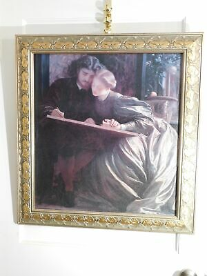 A Couple in Love Canvas Print Victorian Style Gold Frame
