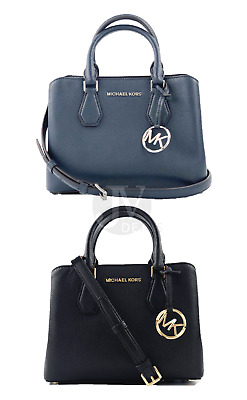 Brand New Women's Michael Kors Camille Small Leather Satchel Crossbody Handbag