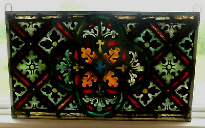 Antique Church Stained Glass Window Architectural Salvage Innsbruck Tyrolean 659