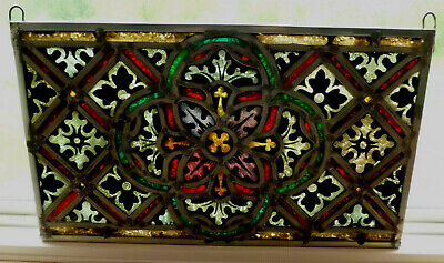 Antique Church Stained Glass Window Architectural Salvage Innsbruck Tyrolean 661