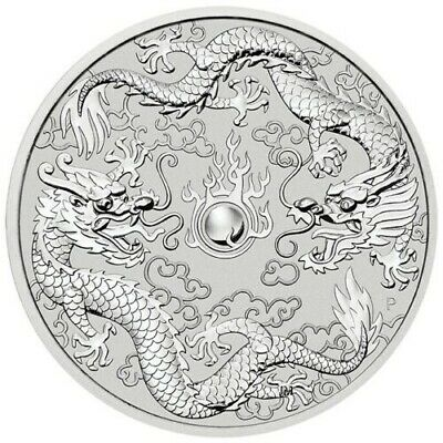 2019 Australian Double Dragon 1oz .9999 Silver Bullion Coin - SOLD OUT AT MINT
