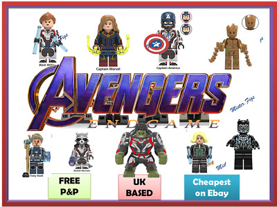 Minifigures Super Hero Mini figures Marvel AVENGERS ENDGAME BRICK UK Superheroes