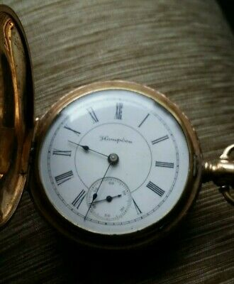 56.6mm Antique American Waltham Gold Filled Pocket Watch 17jewels Big Size! Watches, Parts & Accessories
