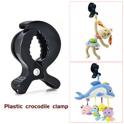 Baby Car Seat Accessories Toys Stroller Peg To Hook Blanket Small Clip Black