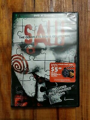 Saw Dvd Box Set 1-7 The Complete Movie Collection Saw Movie Collection 1-7 Dvd