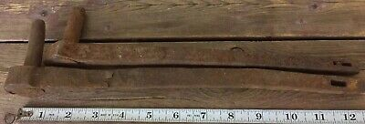 2 Antique Hand Forged Iron Pintles Hinge Pins Door Farm Gate Maine Salvage #8