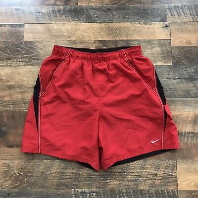 8b88931cd076f Nike Mens Size L Large Red Mesh Lined Swim Trunks Athletic Shorts Dri Fit  Pocket