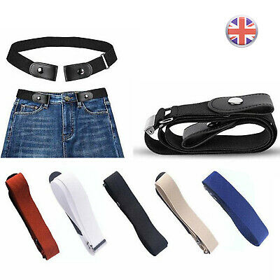 Buckle-free Elastic Womens Mens Invisible Waist Belt No Bulge Hassle Waistband