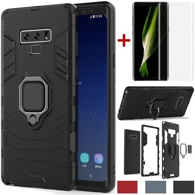 For Samsung Galaxy S10 Plus/S10e/Note 9 Shockproof Stand Magnetic Rubber Case