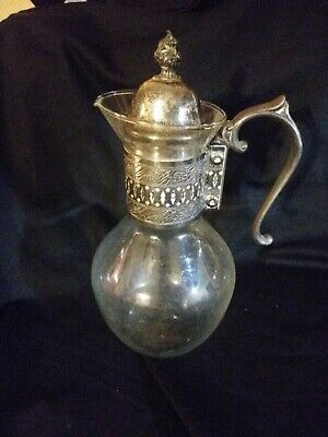Carafe Heat Resistant Coffee Tea Pitcher w/Silver Handle and Lid