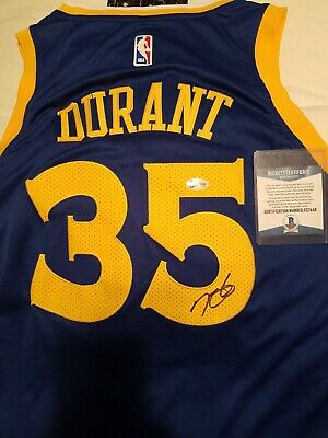 89bfa9a118c Kevin Durant Signed Autographed Golden State Warriors Jersey BECKETT COA