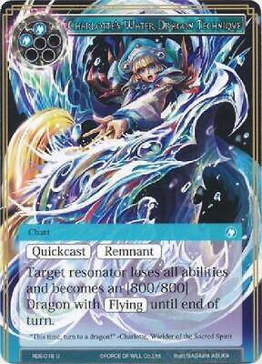 Uncommon New Force of Will 8x Charlotte/'/'s Water Dragon Technique RDE-018