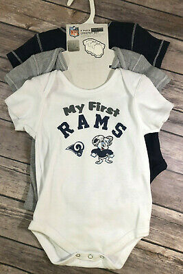 82cc6b24 LOS ANGELES RAMS Bodysuits Rompers baby girl infant *3 pack**free ...