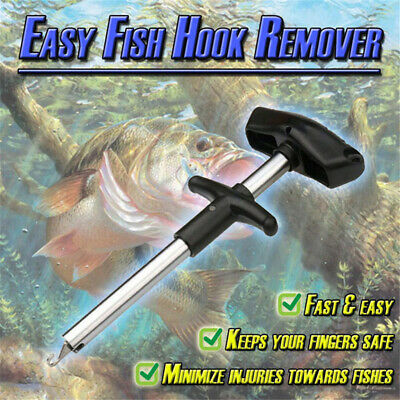 Easy Fish Hook Remover Puller Fishing Tool T - Handle Extractor Tackles Detacher