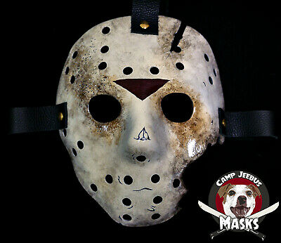 """Friday the 13th Part 7 (VII) """"Film Accurate"""" Hand painted Jason Hockey Mask"""