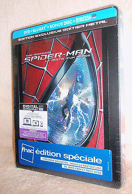 "The Amazing Spider-Man 2 Blu-Ray Steelbook Fnac Edition Speciale Fr  ""Very Rare"""