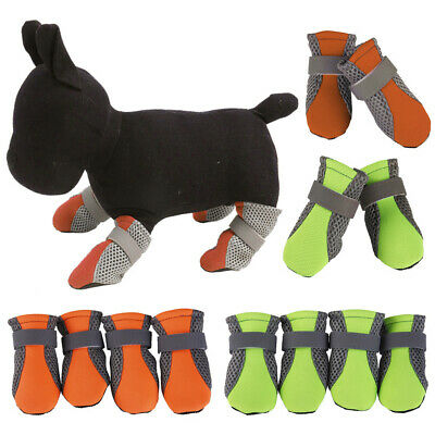 4 Pcs Dog Shoes Small Large Mesh Boots Booties for Snow Rain Reflective Antislip