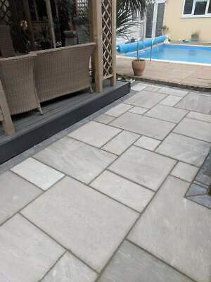 Kandla Grey 19.5m2 Indian sandstone paving slabs flags  WHILE STOCKS LAST ⏰