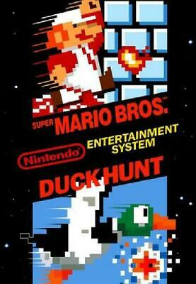 2x Super Mario Bros./Duck Hunt NM Cartridge NES Nintendo Entertainment System