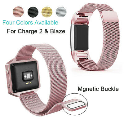 For Fitbit Charge 2 Blaze Strap Replacement Milanese Band Stainless Steel Magnet