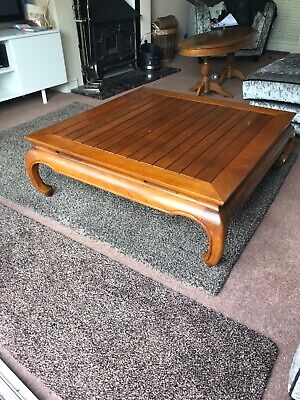 * REDUCED * Varnished Solid Wood Vintage Coffee Table Retro Antique Furniture