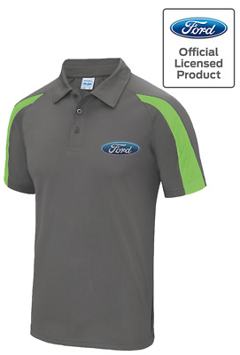 Ford Motors Official Licensed Contrast Performance Men's Polo