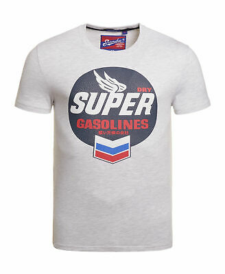 New Mens Superdry Reworked Classic Lite T-Shirt Ice Marl