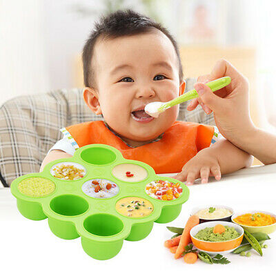 New Silicone Baby Food Freezer Tray 9 Pots Storage Container Lid BPA Free AU