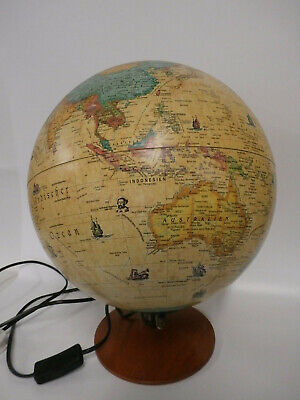 Scanglobe Vintage Electric Light Globe In Working Order - Hxg