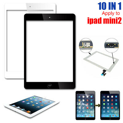 For Apple iPad Mini1&2 Touch Screen Replacement Front Glass Digitizer Cable+Home