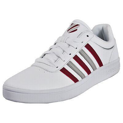 K Swiss Court Cheswick Mens Classic Casual Retro Fashion Trainers White