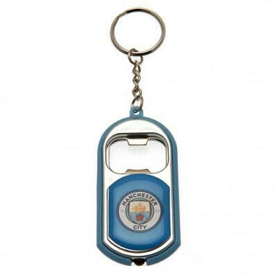 Manchester Man City FC Key Ring Keyring Torch & Bottle Opener In Gift Box Set