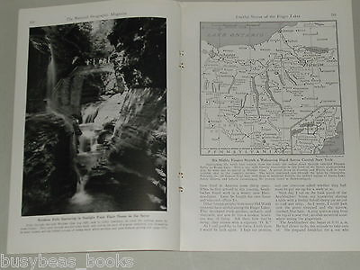 1941 magazine article about the FINGER LAKE area of New York State color photos