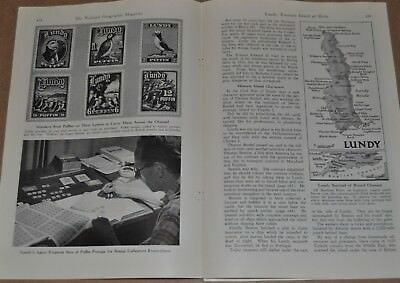 1947 LUNDY ISLAND magazine article, history, people, Birding, PUFFINS etc