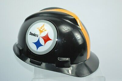 ff438f1a9 MSA V-Gard FULL BRIM PITTSBURGH STEELERS NFL Hard Hat Type 3 RATCHET  Suspension
