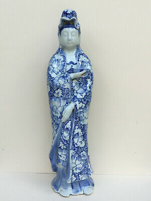 Antique Chinese Porcelain Guan Yin Figure Statue Qing Dynasty Kangxi 1661-1722