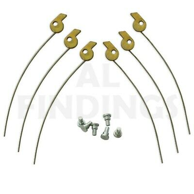 Jewellers Tools 6 Clock Longcase Rack Spring 3 Left & 3 Right Parts