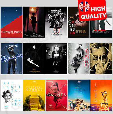 Cannes Film Festival International Movie Event 2005-2019 Poster | A4 A3 A2 A1 |
