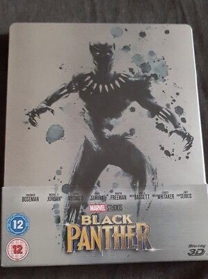 black panther blu ray steelbook limited edition - brand new - sealed
