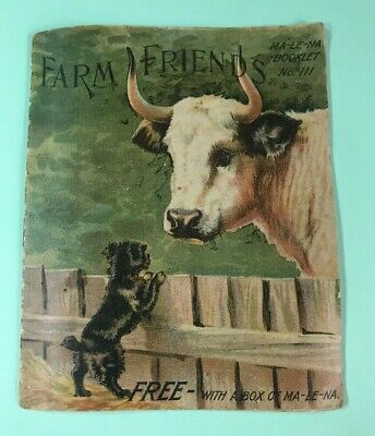 2 Malena Booklets Liver Pills Quack Medicine ~ Farm Animal Covers No. 100 & 111