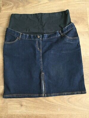 Jojo Maman Bebe Denim Maternity Skirt Size 18