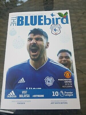 CARDIFF CITY v MANCHESTER UNITED PROGRAMME 2018/19(NEW)OLE GUNNARS FIRST GAME