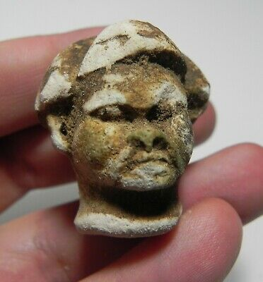 ZURQIEH -as12683- ANCIENT EGYPT. LIMESTONE HEAD. 1500 - 1100 B.C. NEW KINGDOM