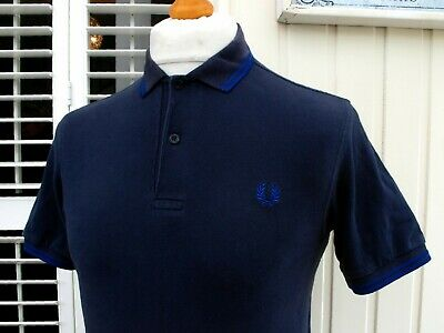 "Fred Perry M1200 Carbon Twin Tipped Polo - XS/S - 36"" - Ska Mod Scooter Workwear"