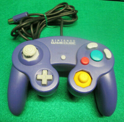 Official OEM Nintendo GameCube Clear Indigo Purple Controller DOL-003 Tested