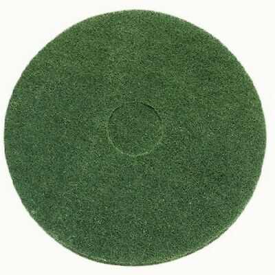 Green scrubbing floor pad - Pack of 5 10""